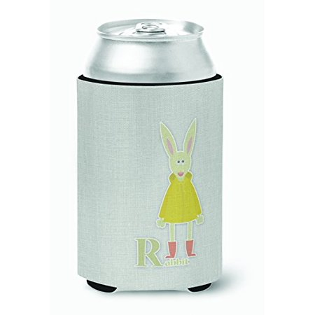 Caroline's Treasures BB5743CC Alphabet R for Rabbit Can or Bottle Hugger, Can Hugger, multicolor - image 1 of 1