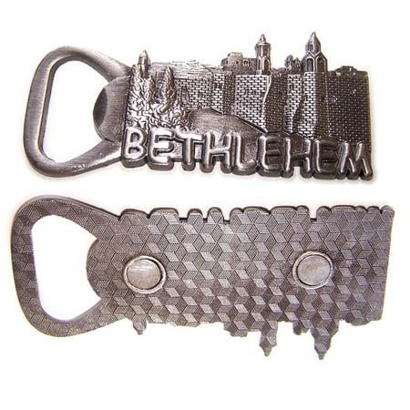 Church Magnet (Pewter - Heavy Nativity Church of Bethlehem - Bottle opener - Magnet Souvenir)