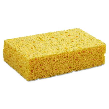 "Medium Cellulose Sponge, 3 2/3 X 6 2/25"", 1.55"" Thick, Yellow, 24/carton"