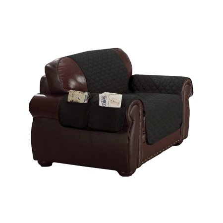 Duck River Textiles Reynold Reversible Water Resistant Chair Cover In Silver
