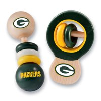 NFL Green Bay Packers Real Wood Baby Rattles ( 2-Pack) by MasterPieces