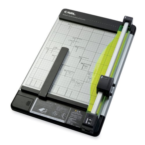 "Carl Heavy-duty Paper Trimmer - 1 X Blade[s]cuts 36sheet - 18"" Cutting Length - Metal Base, Acrylonitrile Butadiene Styrene [abs], Acrylic - Gray (CUI12238)"