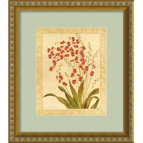 Amanti Art 'Red Begonias' by Gloria Eriksen Framed Painting Print