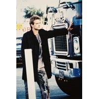 The Terminator Michael Biehn 24x36 Poster in front of truck