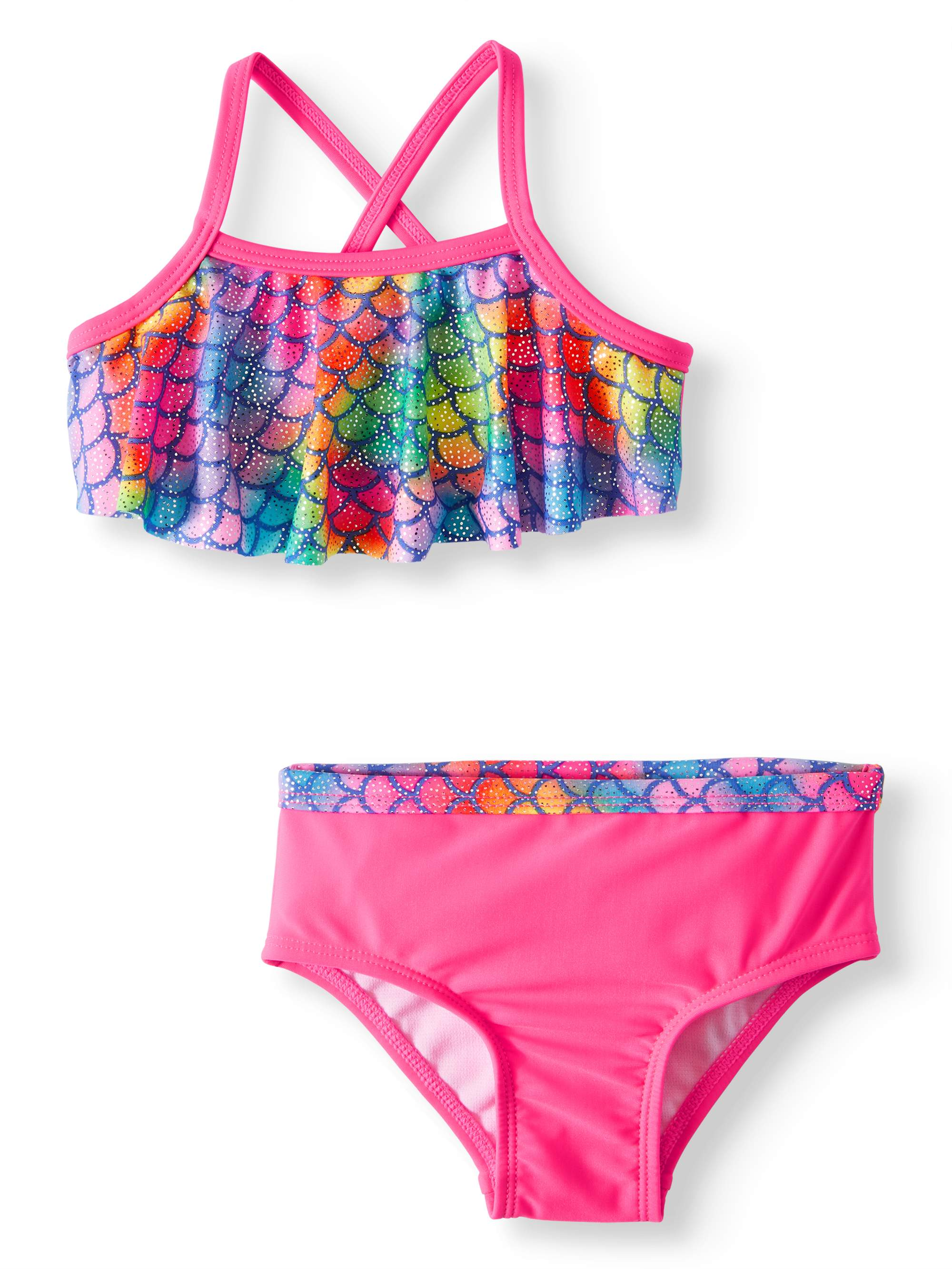 Mermaid Print Bikini Swimsuit (Baby Girls)