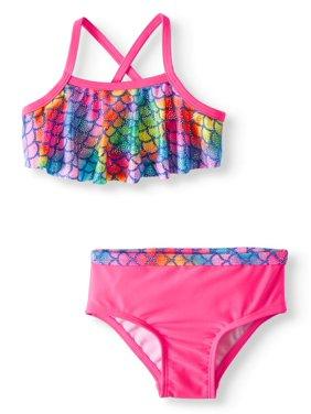 Wonder Nation Cross-Back Bikini Swimsuit (Baby Girls)