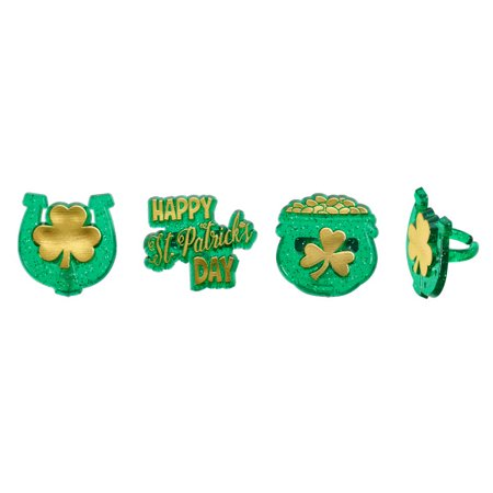 St Patrick's Day Pot Of Gold (St Patrick's Day, Horseshoe, & Pot of Gold Cupcake Rings - 24)
