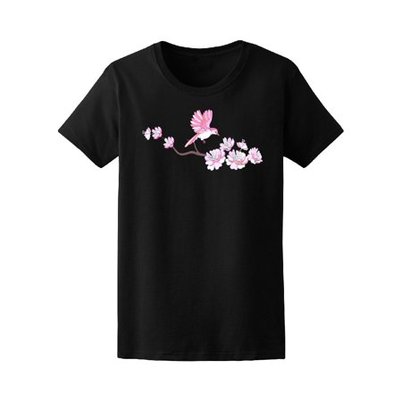 Cherry Blossom Sleeve (Beautiful Bird & Cherry Blossom Tee Women's -Image by Shutterstock )