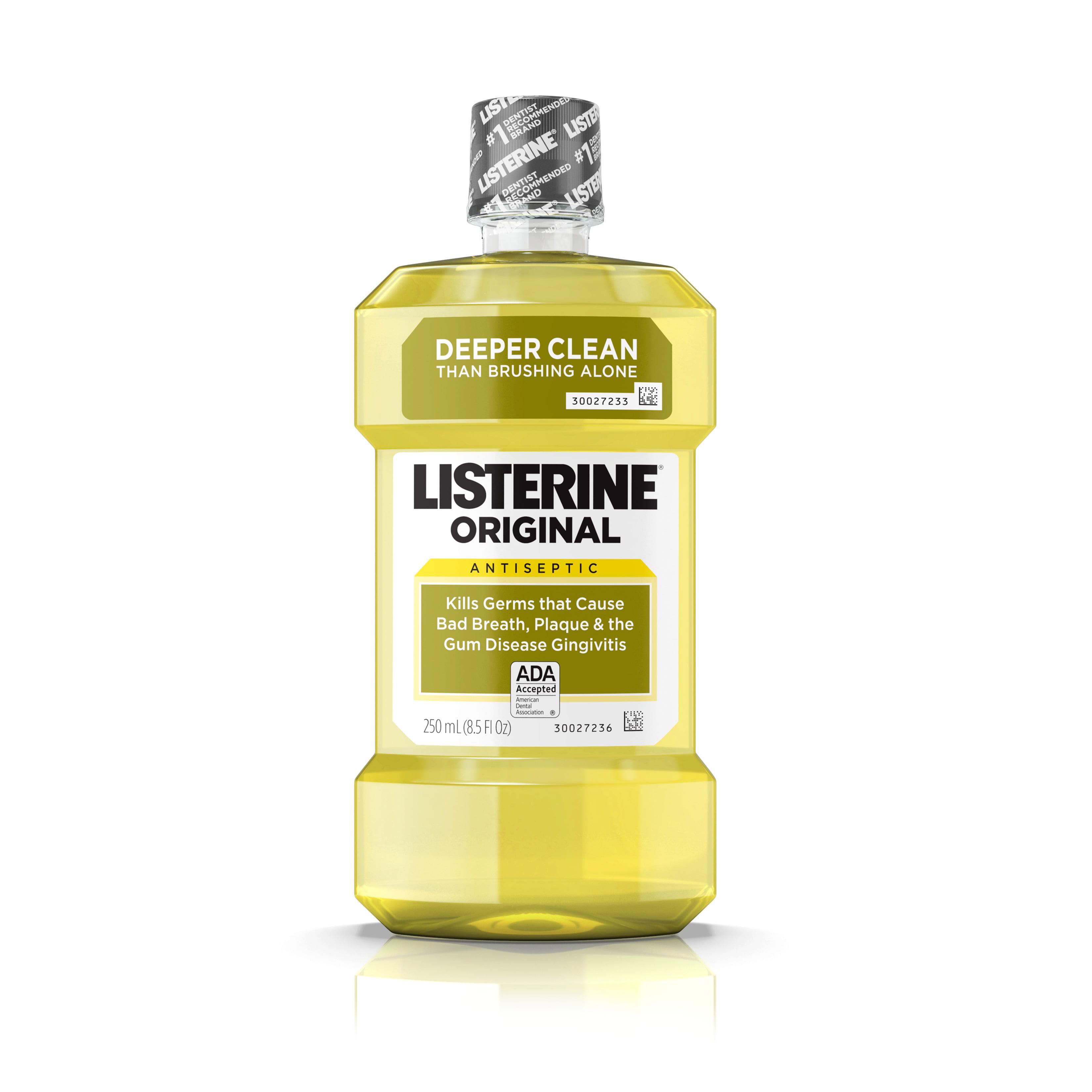 Listerine Original Antiseptic Oral Care Mouthwash, 250 mL