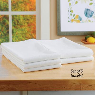 Flour Sack Kitchen Towels Set - Super Absorbent Cotton