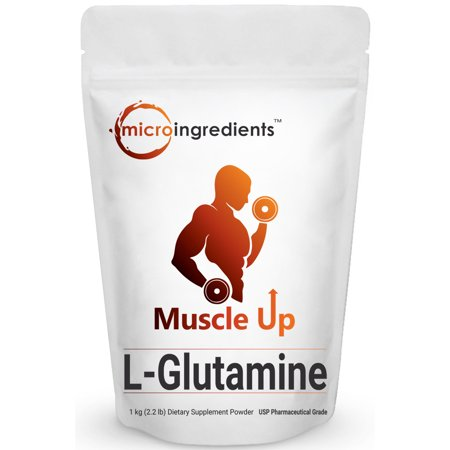 Power Recovery Pack (Micro Ingredients Pure L-Glutamine Powder, 1Kg (2.2 Pounds), Powerfully Promotes Muscle Mass & Recovery, Enhances Protein Synthesis and Helps You Pack on More Muscles. Pharmaceutical Grade. )