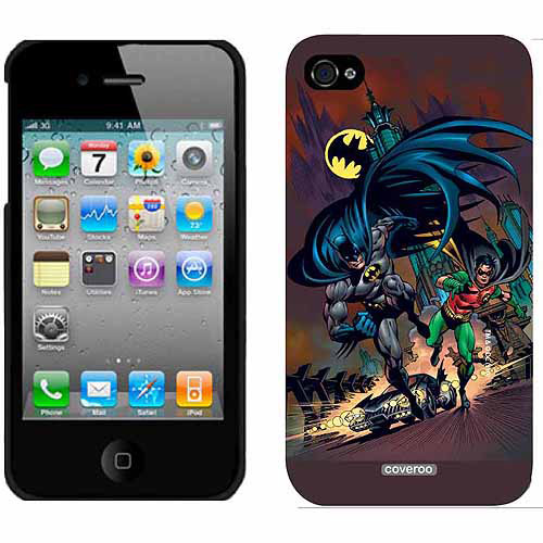 Batman & Robin Running Design on Apple iPhone 4/4s Thinshield Snap-On Case by Coveroo