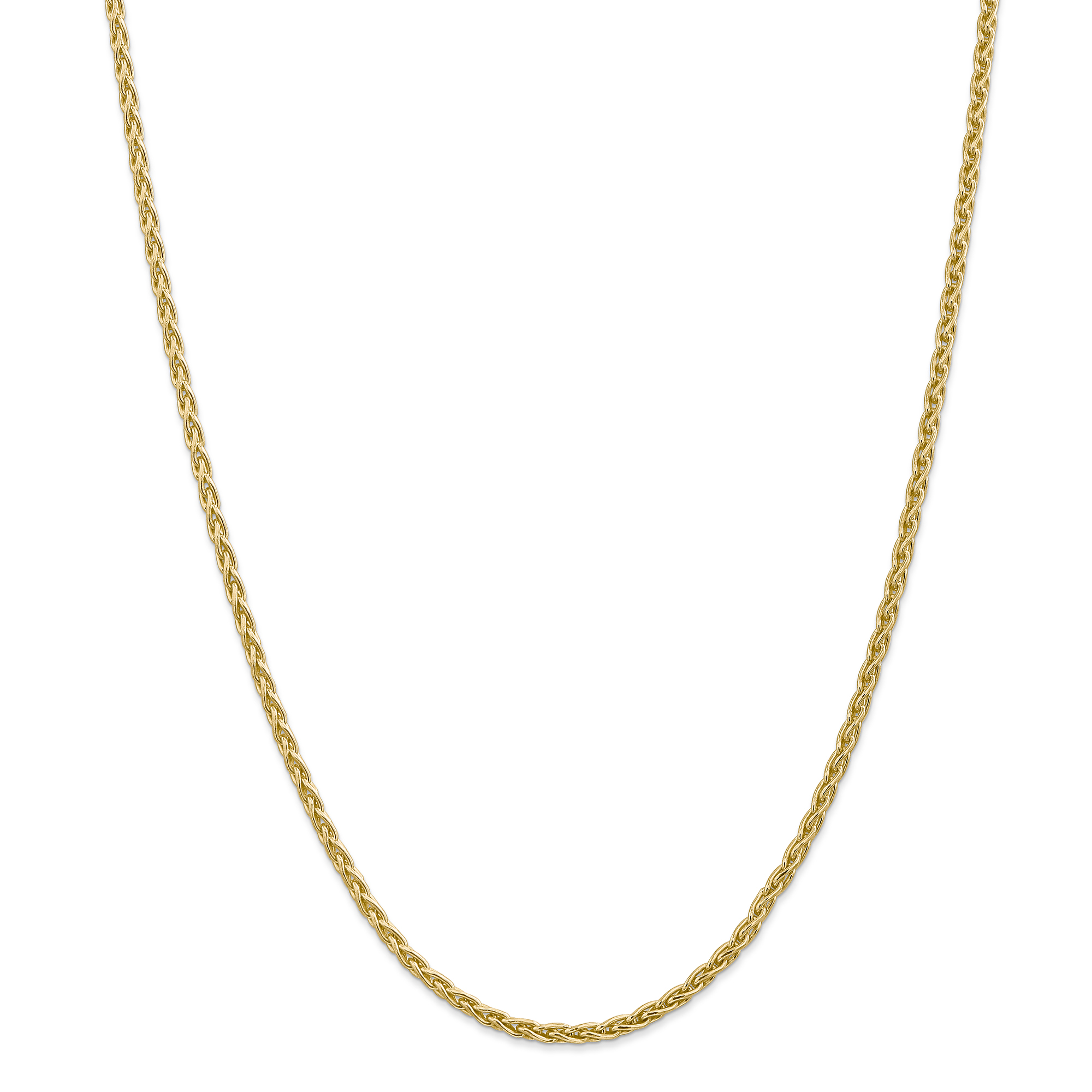 14K Yellow Gold 3mm Parisian Wheat Chain 30 Inch - image 5 de 5