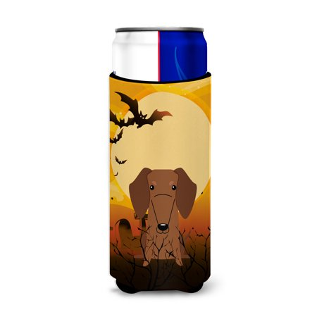 Halloween Dachshund Red Brown Michelob Ultra Hugger for slim cans BB4396MUK - Dachshund Halloween
