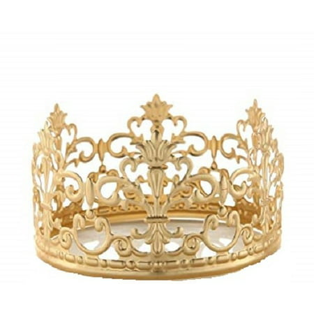 Princess Gold Crown Cake Topper Vintage Crown Small Gold Wedding Cake Top