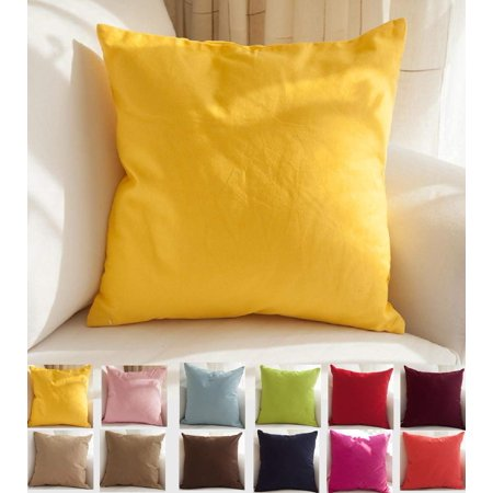 VGEBY 18 X 18 inches Solid Suede Nap Cushion Cover Bed Sofa Throw Pillow Case Home Decor (Pillow is not - Purple Room Decor