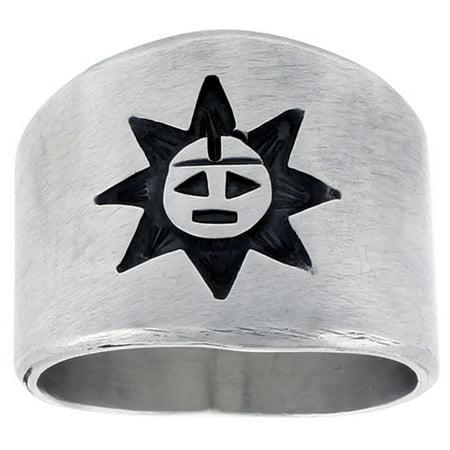 Sterling Silver Native American Design - Sterling Silver Native American Design Sun Ring, sizes 8-13