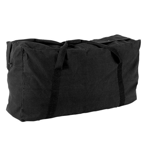 Zippered Canvas Duffle Bag Black