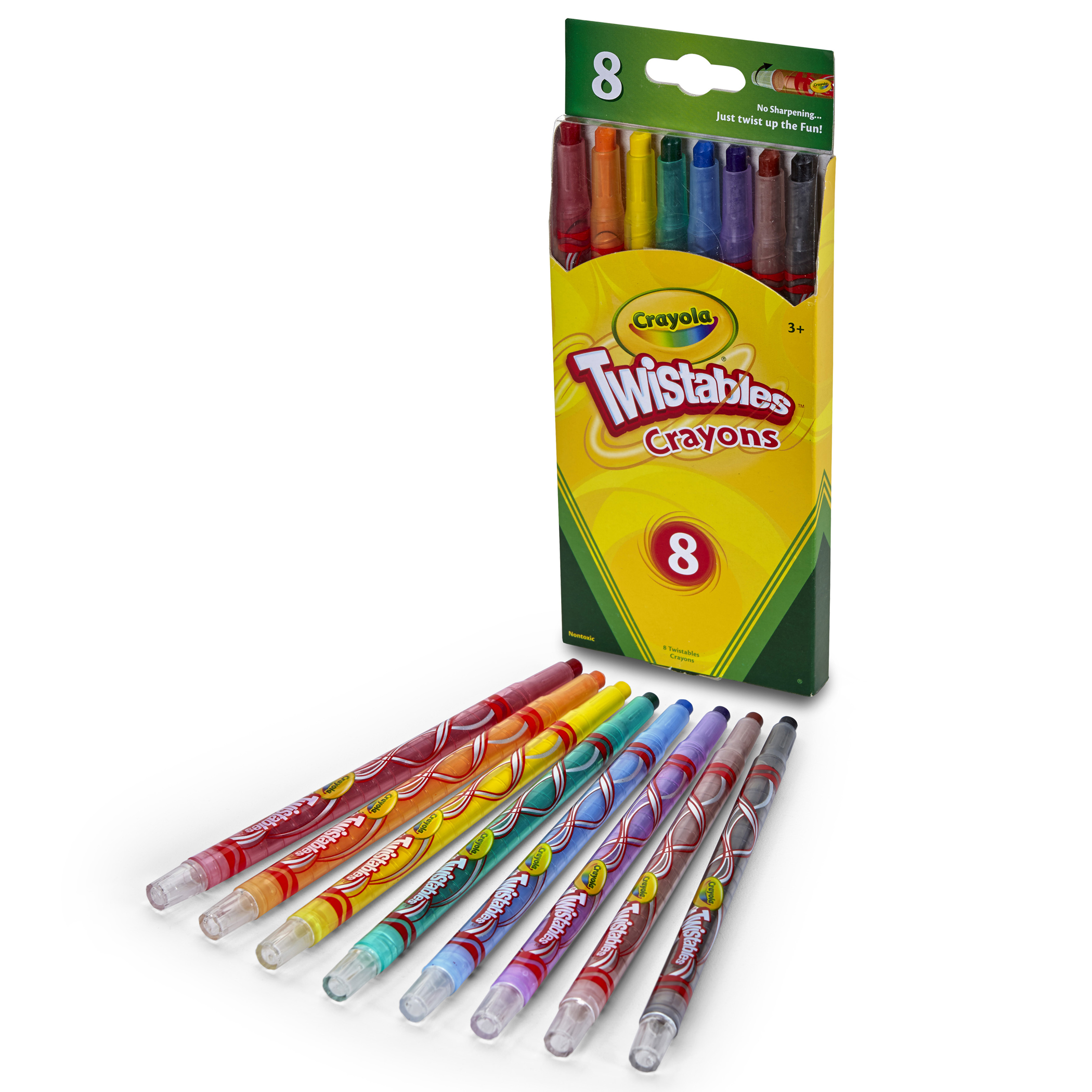 Crayola Twistables Crayons, 8 Colors Per Box, Set Of 8 Boxes