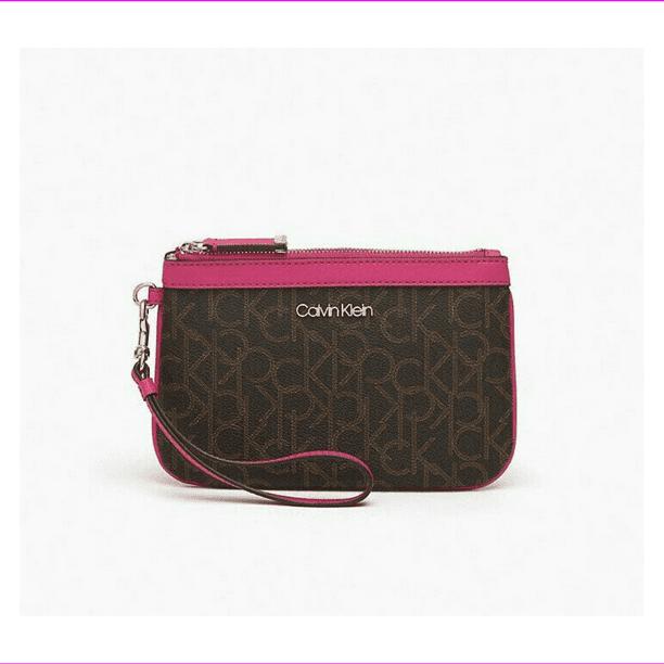 Calvin Klein Signature Wristlet, brown/khaki/luggage