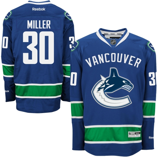 Ryan Miller Vancouver Canucks Reebok Home Premier Jersey - Blue