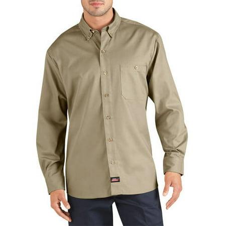 Genuine dickies men 39 s big long sleeve canvas work shirt for Dickies big tex shirt