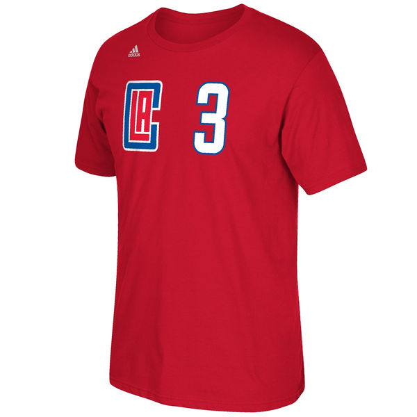 Los Angeles Clippers Chris Paul Adidas NBA New Logo Player T Shirt Red XXL