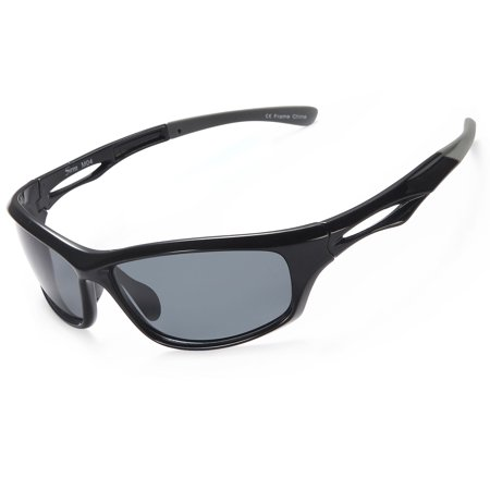 d4fb6ab8924 SIREN - Siren Polarized Sports Sunglasses w Case TR90 Unbreakable Frame -  Grey Lens on Black Grey Frame - Walmart.com
