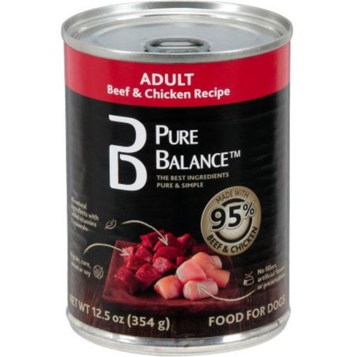Pure Balance 95 Percent Beef and Chicken Wet Dog Food, 12.5 Oz