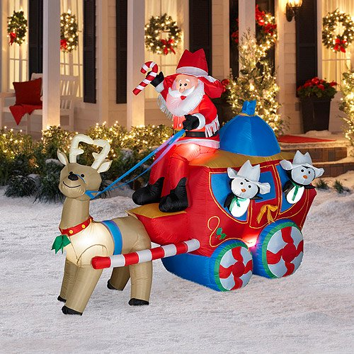 6 tall x 8 long airblown christmas sta walmartcom - Walmart Inflatable Christmas Decorations