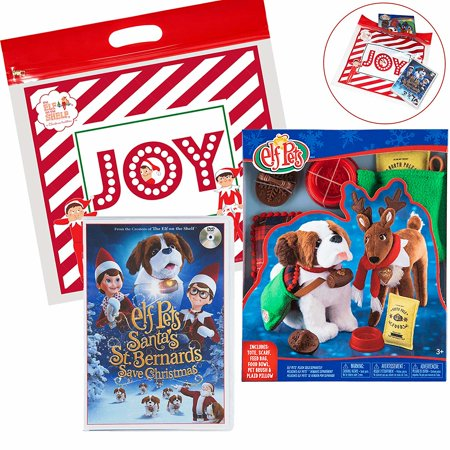 The Elf on the Shelf Elf 2018 Pets Christmas Set, with Elf Pets Good Tidings Accessory Set and Santas St. Bernards Save Christmas DVD Movie - Elf On The Shelf Halloween Card