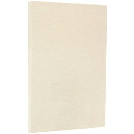 JAM Paper Parchment Legal Size Cardstock, 8.5 x 14, 65 lb Natural, 50