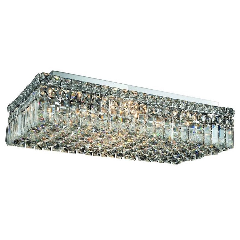 "Elegant Lighting Maxime 12"" 6 Light Elegant Crystal Flush Mount"