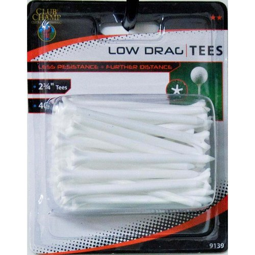 "Club Champ Low Drag Tee, 2-3/4"", White"