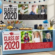 Personalized Way To Grow! Graduation Photo Banner - Choose from 7 Colors and 2 Sizes