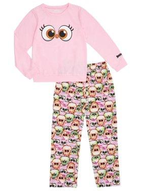 Angry Birds Girls' Stella Long Sleeve 2-piece Pajama Set
