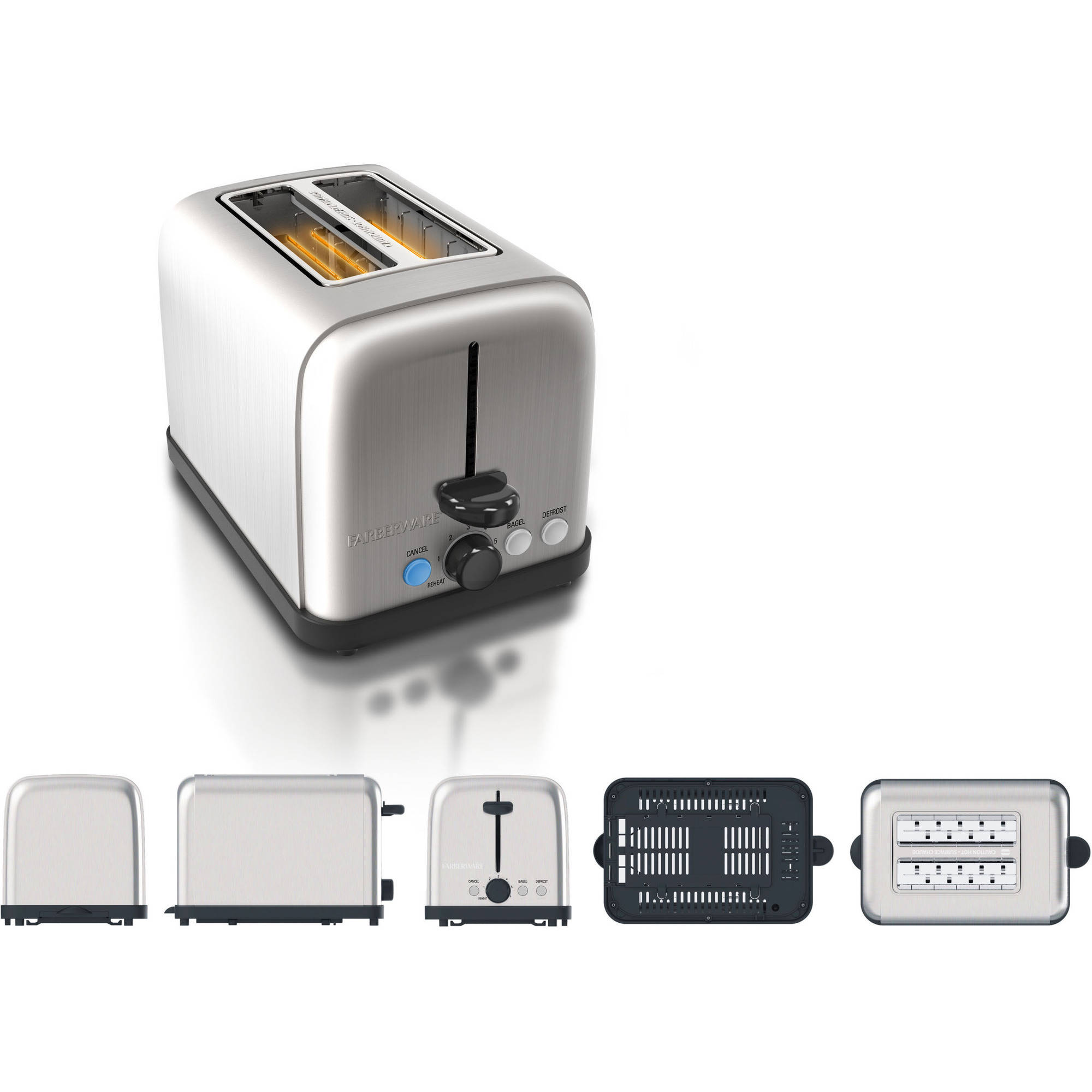 Farberware 2-Slice Stainless Steel Toaster