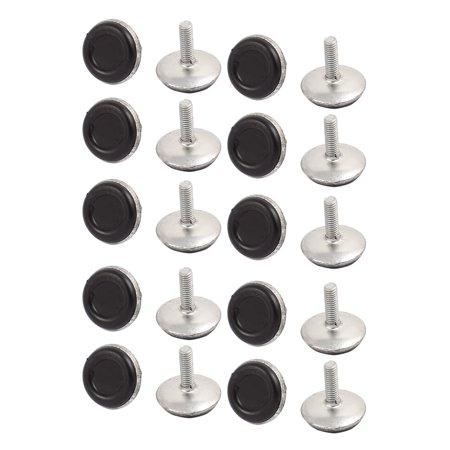 M6x17mm Plastic Base Adjustable Leveling Glide Foot 20pcs for Cabinet Table Leg - image 2 of 2