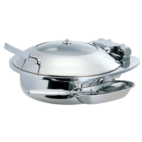 SMART Buffet Ware Medium Round Chafing Dish with Glass Lid