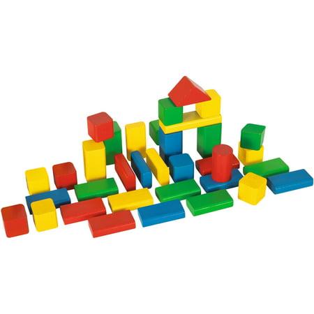 Heros 50-Piece Color Wooden Blocks - Diy Wooden Blocks