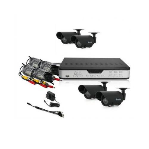Zmodo PKD-DK4216-500GB 4 CH CCTV Security DVR LED Camera System 500GB Kit,6mm Lens.---DVR-H9104V DVR with 500GB HD,Cable,Power Supply,IR Remote Control,4 Cameras,* Monitor is not included*