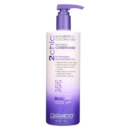 Giovanni Hair Care Products - 2Chic Repairing Conditioner Blackberry Coconut Milk - 24 fl (Giovanni 2chic Blackberry And Coconut Milk Reviews)