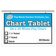 WHITE CHART TABLET 16X24 1IN RULED 25 SHT
