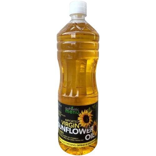 (2 Pack) Authentic Menu Imported Virgin Sunflower Oil, 33.8 fl oz