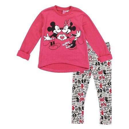 Disney Little Girls' Toddler Minnie Fleece Top and Leggings Set, Hot Pink (2T) - Leggins Hot Girls