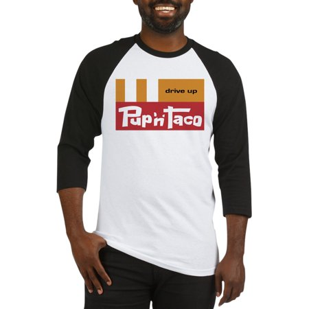CafePress - Pup 'N' Taco Canoga Park Baseball Jersey - Cotton Baseball Jersey, 3/4 Raglan Sleeve (Pup Parka)