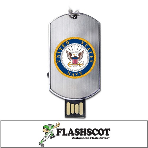 U.S. Navy Flash Tag USB Drive - 8GB