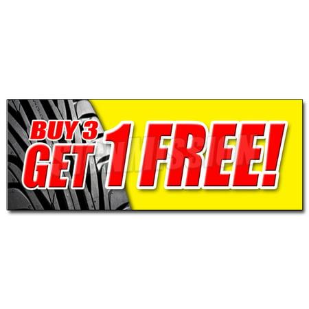 48   Buy 3 Tires Get 1 Free Decal Sticker Huge Sale 25  Discount Tire