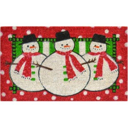 Imports Decor 159SCM Three Snow Men Door Mat