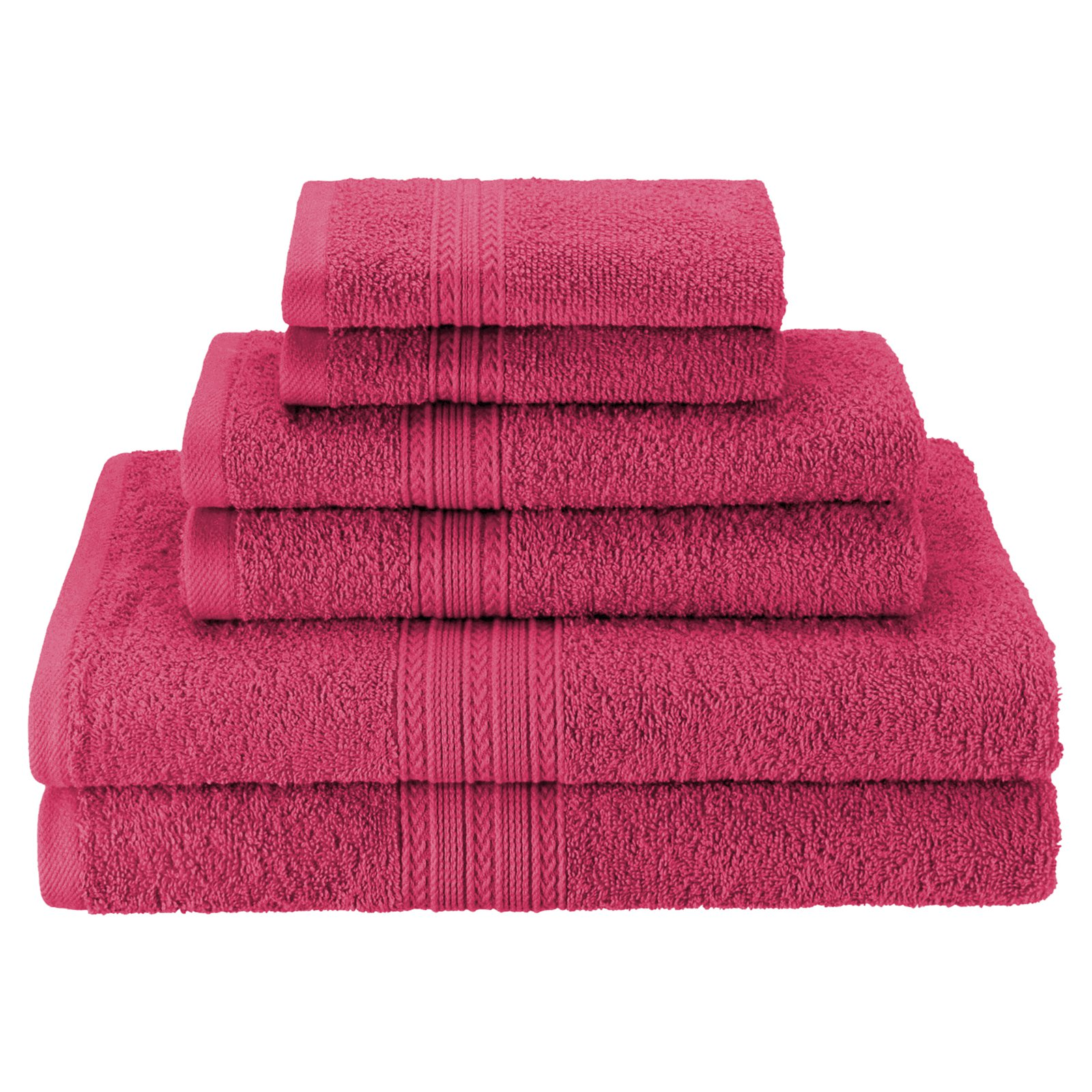 Superior Eco-Friendly 100% Ringspun Cotton 6Pc Towel Set